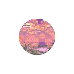 Glorious Skies, Abstract Pink And Yellow Dream Golf Ball Marker 10 Pack by DianeClancy