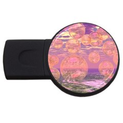 Glorious Skies, Abstract Pink And Yellow Dream 2gb Usb Flash Drive (round) by DianeClancy