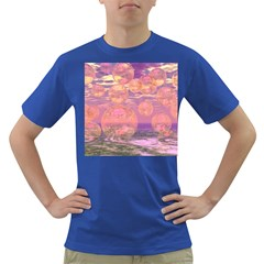 Glorious Skies, Abstract Pink And Yellow Dream Men s T Shirt (colored) by DianeClancy