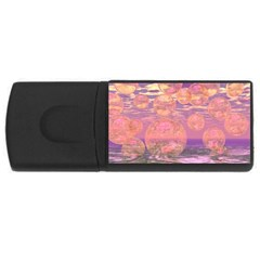 Glorious Skies, Abstract Pink And Yellow Dream 4gb Usb Flash Drive (rectangle) by DianeClancy