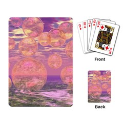 Glorious Skies, Abstract Pink And Yellow Dream Playing Cards Single Design by DianeClancy