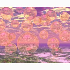 Glorious Skies, Abstract Pink And Yellow Dream Canvas 16  X 20  (unframed) by DianeClancy