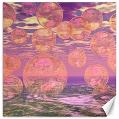 Glorious Skies, Abstract Pink And Yellow Dream Canvas 20  X 20  (unframed) by DianeClancy