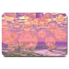 Glorious Skies, Abstract Pink And Yellow Dream Large Door Mat by DianeClancy