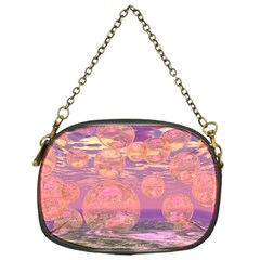 Glorious Skies, Abstract Pink And Yellow Dream Chain Purse (one Side) by DianeClancy