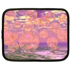 Glorious Skies, Abstract Pink And Yellow Dream Netbook Sleeve (xl) by DianeClancy