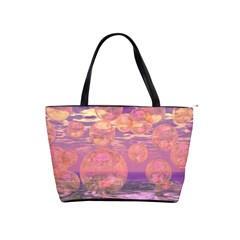 Glorious Skies, Abstract Pink And Yellow Dream Large Shoulder Bag by DianeClancy