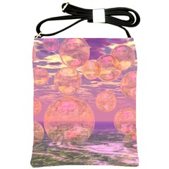 Glorious Skies, Abstract Pink And Yellow Dream Shoulder Sling Bag by DianeClancy