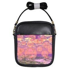 Glorious Skies, Abstract Pink And Yellow Dream Girl s Sling Bag by DianeClancy