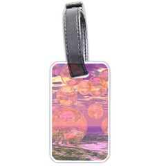 Glorious Skies, Abstract Pink And Yellow Dream Luggage Tag (two Sides) by DianeClancy
