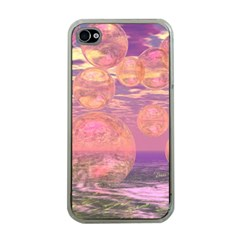 Glorious Skies, Abstract Pink And Yellow Dream Apple Iphone 4 Case (clear) by DianeClancy