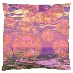 Glorious Skies, Abstract Pink And Yellow Dream Large Cushion Case (two Sided)  by DianeClancy
