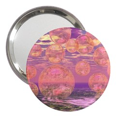 Glorious Skies, Abstract Pink And Yellow Dream 3  Handbag Mirror by DianeClancy