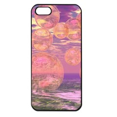 Glorious Skies, Abstract Pink And Yellow Dream Apple Iphone 5 Seamless Case (black) by DianeClancy