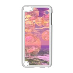 Glorious Skies, Abstract Pink And Yellow Dream Apple Ipod Touch 5 Case (white) by DianeClancy
