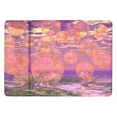 Glorious Skies, Abstract Pink And Yellow Dream Samsung Galaxy Tab 10 1  P7500 Flip Case by DianeClancy