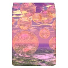 Glorious Skies, Abstract Pink And Yellow Dream Removable Flap Cover (large) by DianeClancy