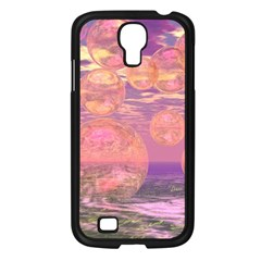 Glorious Skies, Abstract Pink And Yellow Dream Samsung Galaxy S4 I9500/ I9505 Case (black) by DianeClancy