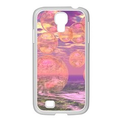 Glorious Skies, Abstract Pink And Yellow Dream Samsung Galaxy S4 I9500/ I9505 Case (white) by DianeClancy