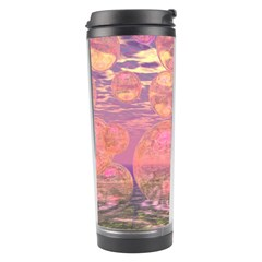Glorious Skies, Abstract Pink And Yellow Dream Travel Tumbler by DianeClancy