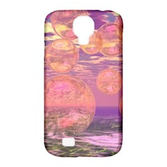 Glorious Skies, Abstract Pink And Yellow Dream Samsung Galaxy S4 Classic Hardshell Case (pc+silicone) by DianeClancy