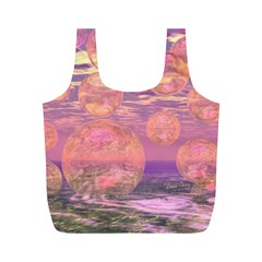 Glorious Skies, Abstract Pink And Yellow Dream Reusable Bag (m) by DianeClancy