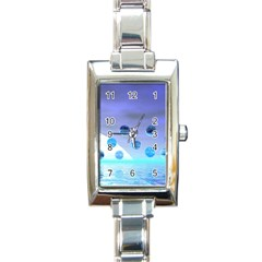 Moonlight Wonder, Abstract Journey To The Unknown Rectangular Italian Charm Watch by DianeClancy