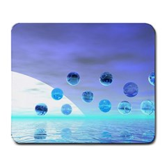 Moonlight Wonder, Abstract Journey To The Unknown Large Mouse Pad (rectangle) by DianeClancy