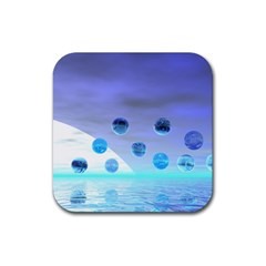 Moonlight Wonder, Abstract Journey To The Unknown Drink Coaster (square) by DianeClancy