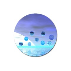 Moonlight Wonder, Abstract Journey To The Unknown Magnet 3  (round) by DianeClancy