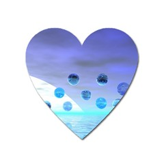 Moonlight Wonder, Abstract Journey To The Unknown Magnet (heart) by DianeClancy