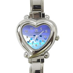Moonlight Wonder, Abstract Journey To The Unknown Heart Italian Charm Watch  by DianeClancy
