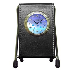 Moonlight Wonder, Abstract Journey To The Unknown Stationery Holder Clock by DianeClancy