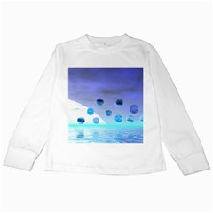 Moonlight Wonder, Abstract Journey To The Unknown Kids Long Sleeve T Shirt by DianeClancy