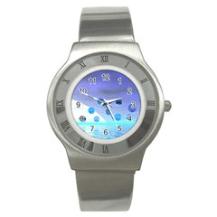 Moonlight Wonder, Abstract Journey To The Unknown Stainless Steel Watch (slim) by DianeClancy