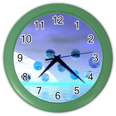Moonlight Wonder, Abstract Journey To The Unknown Wall Clock (color) by DianeClancy