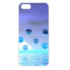 Moonlight Wonder, Abstract Journey To The Unknown Apple Iphone 5 Seamless Case (white) by DianeClancy