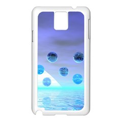 Moonlight Wonder, Abstract Journey To The Unknown Samsung Galaxy Note 3 N9005 Case (white) by DianeClancy