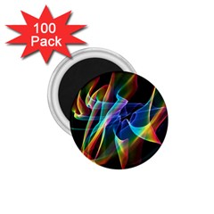 Aurora Ribbons, Abstract Rainbow Veils  1 75  Button Magnet (100 Pack) by DianeClancy