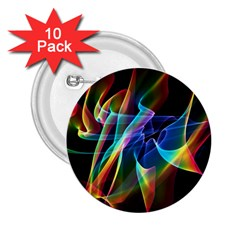 Aurora Ribbons, Abstract Rainbow Veils  2 25  Button (10 Pack) by DianeClancy