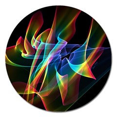 Aurora Ribbons, Abstract Rainbow Veils  Magnet 5  (round) by DianeClancy