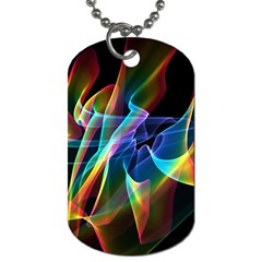 Aurora Ribbons, Abstract Rainbow Veils  Dog Tag (two Sided)  by DianeClancy