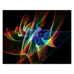 Aurora Ribbons, Abstract Rainbow Veils  Jigsaw Puzzle (rectangle) by DianeClancy