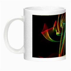 Aurora Ribbons, Abstract Rainbow Veils  Glow In The Dark Mug by DianeClancy