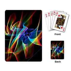 Aurora Ribbons, Abstract Rainbow Veils  Playing Cards Single Design by DianeClancy
