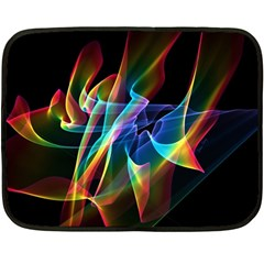 Aurora Ribbons, Abstract Rainbow Veils  Mini Fleece Blanket (Two Sided)