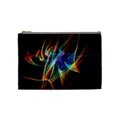 Aurora Ribbons, Abstract Rainbow Veils  Cosmetic Bag (medium) by DianeClancy