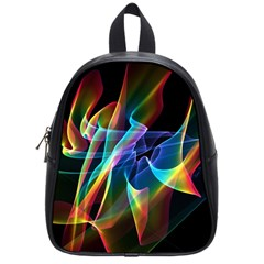Aurora Ribbons, Abstract Rainbow Veils  School Bag (small) by DianeClancy