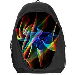 Aurora Ribbons, Abstract Rainbow Veils  Backpack Bag by DianeClancy