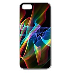 Aurora Ribbons, Abstract Rainbow Veils  Apple Seamless Iphone 5 Case (clear) by DianeClancy